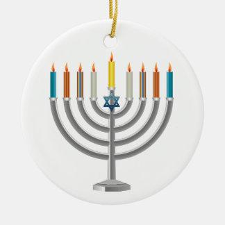 Hanukkah menorah christmas ornaments