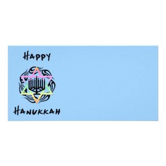 Hanukkah Menorah Picture Card