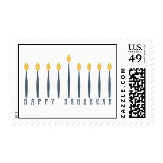 Hanukkah Menorah Postage