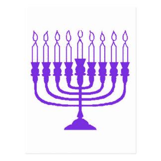 Hanukkah Menorah Postcard