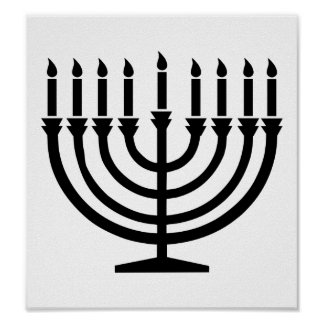 Hanukkah Menorah Poster