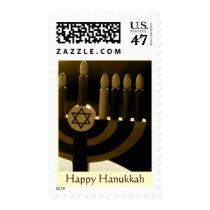 Hanukkah Menorah Stamp