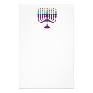 Hanukkah Menorah Personalized Stationery