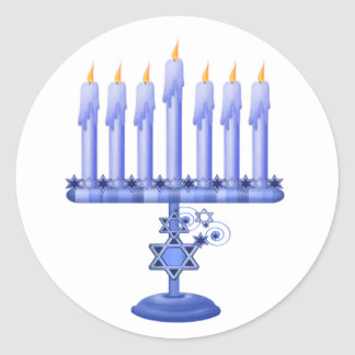 Hanukkah Menorah Sticker