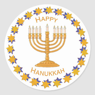 hanukkah menorah stickers