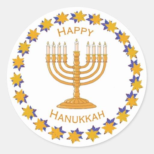 hanukkah menorah stickers