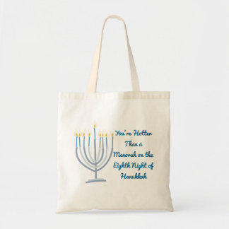 Hanukkah Menorah Tote Bag Funny Gag Gift Fashion