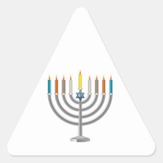 Hanukkah menorah triangle sticker