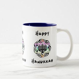 Hanukkah Menorah Two-Tone Coffee Mug