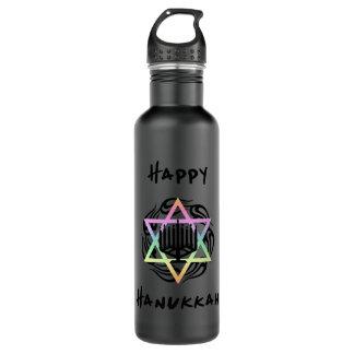 Hanukkah Menorah Water Bottle