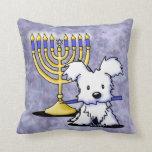 Hanukkah Menorah Westie Pillow