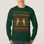 """Hanukkah Men's """"Ugly Sweater"""" T-Shirt Long Sleeve<br><div class=""""desc"""">Chanukah/Hanukkah Men's """"Ugly Sweater"""" Long Sleeve T-Shirt. Judah Maccabee is pretty darn happy with his oil find... makes for a very happy celebration! Choose from a variety of different colors,  styles and sizes. Thanks for stopping and shopping by. Much appreciated.  Happy Chanukah/Hanukkah!!!</div>"""