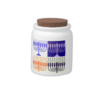 Hanukkah Minorah Candy Jars
