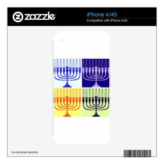 Hanukkah Minorah Skin For iPhone 4S