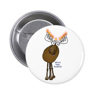 Hanukkah moose! 2 inch round button