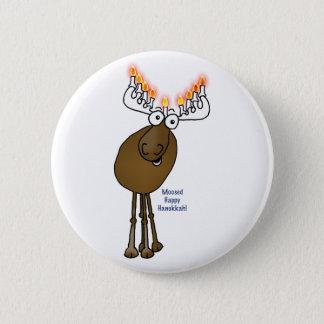 Hanukkah moose! pinback button
