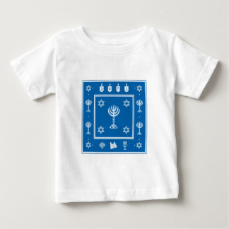Hanukkah Motif blue Infant T-shirt
