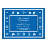 Hanukkah Motif blue Invitation