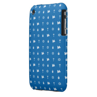Hanukkah Motif blue iPhone 3G Barely There iPhone 3 Covers