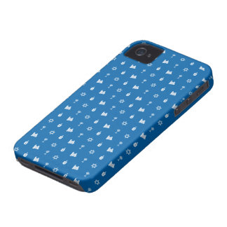 Hanukkah Motif blue iPhone 4 Barely There Case-Mate iPhone 4 Case