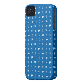 Hanukkah Motif blue iPhone 4 Case-Mate Case-Mate iPhone 4 Case