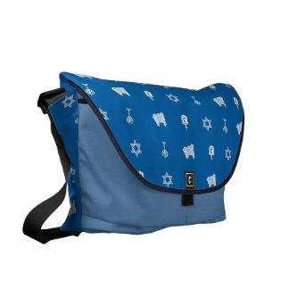 Hanukkah Motif blue Large Messanger Bag