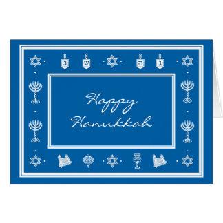 Hanukkah Motif blue Note Card