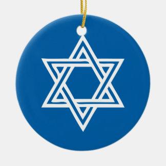 Hanukkah Motif blue Ornament 1