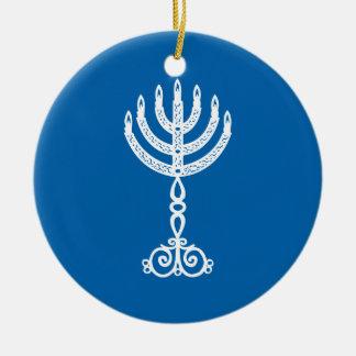 Hanukkah Motif blue Ornament 2