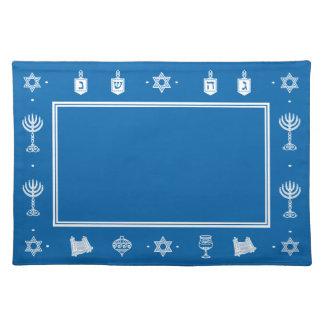 Hanukkah Motif blue Placemat