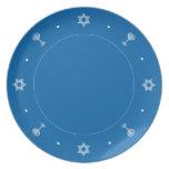Hanukkah Motif blue Plate