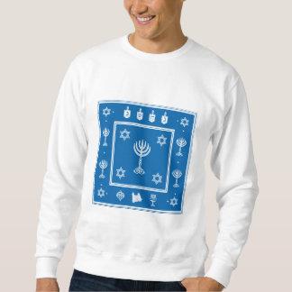 Hanukkah Motif blue Sweatshirt