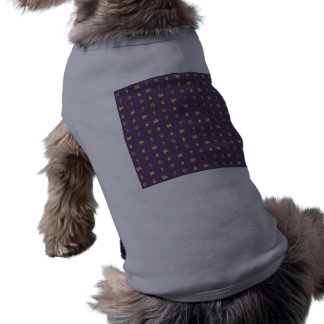 Hanukkah Motif purple Dog T-shirt