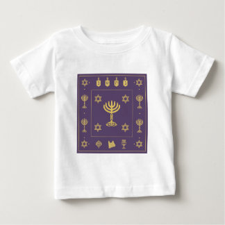 Hanukkah Motif purple Infant T-shirt
