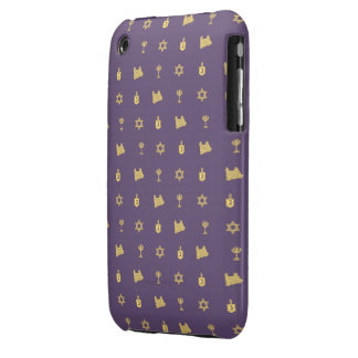 Hanukkah Motif purple iPhone 3G Barely There iPhone 3 Case-Mate Case