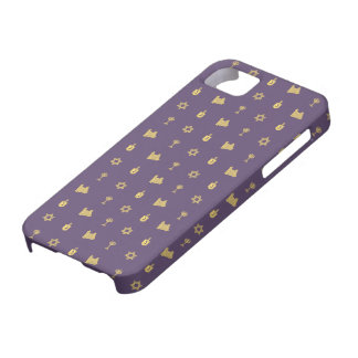 Hanukkah Motif purple iPhone 5 Barely There iPhone SE/5/5s Case
