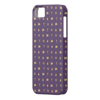 Hanukkah Motif purple iPhone 5 Case-Mate iPhone 5 Case