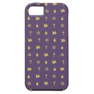 Hanukkah Motif purple iPhone 5 Tough iPhone 5 Cover