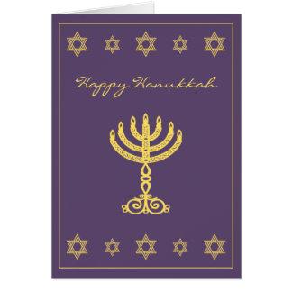 Hanukkah Motif purple Note Card