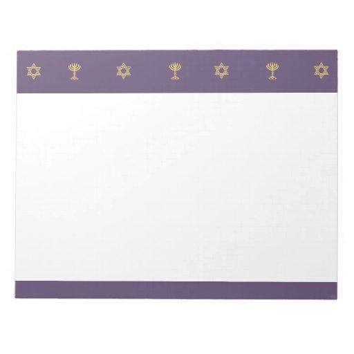Hanukkah Motif purple Notepad