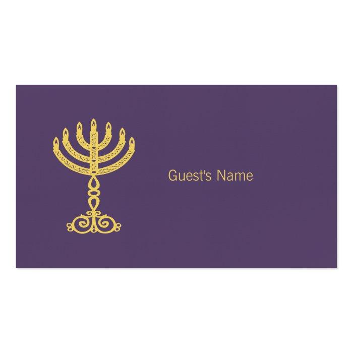 Hanukkah Motif purple Place Card