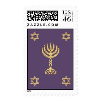 Hanukkah Motif purple Stamp stamp