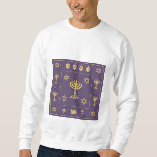 Hanukkah Motif purple Sweatshirt
