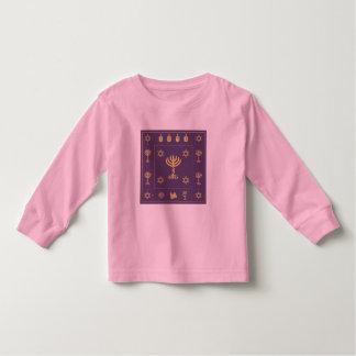 Hanukkah Motif purple Toddler Long Sleeve T-shirt