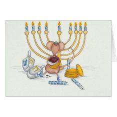 Hanukkah Mouse Card at Zazzle