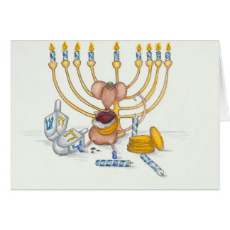 Hanukkah Mouse Card