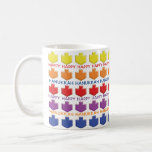 "Hanukkah Mug ""3D Dreidels""<br><div class=""desc"">Colorfully Fun Hanukkah mug. ""3 D Dreidels"" Chanukah Mug. Personalize mug by deleting text and replacing with your own message. Choose your favorite font style, color, and size. Create a simply simple gift by adding some goodies to the mug, wrap it in cellophane and tie it with a bow. Enjoy!...</div>"