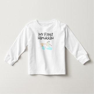 Hanukkah My First Hanukkah (Menorah Snowman) T-shirt