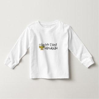 Hanukkah My First Hanukkah Menorah Tshirt