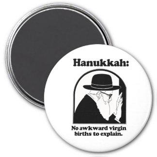 Hanukkah - No awkward virgin births 3 Inch Round Magnet